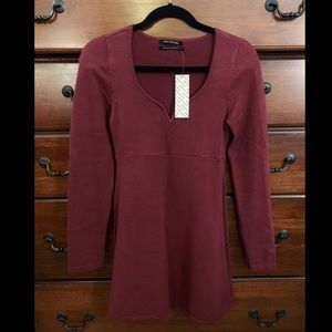 New, Never Worn Urban Outfitters Maroon Dress